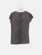 Top tricot khaki animal print Zara