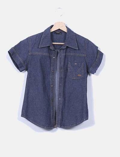Camisa vaquera de manga corta XDYE