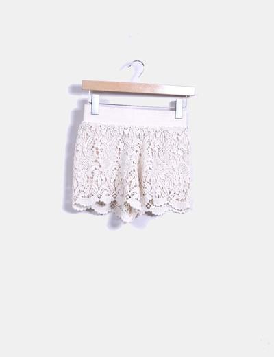 Short beige crochet Suiteblanco