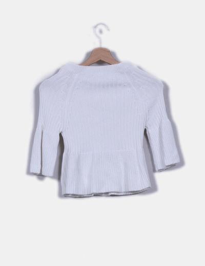 Cardigan corto blanco