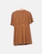 Vestido antelina marrón Zara