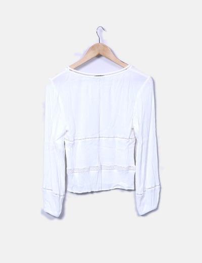 Blusa combinada encaje