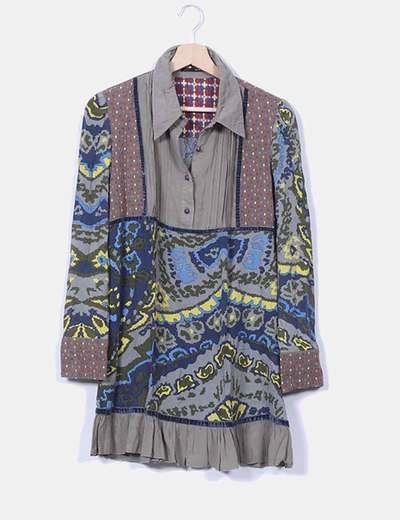 Vestido camisero combinado  Sophyline