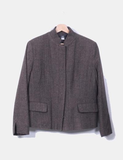 Traje falda y chaqueta espiga marrón vintage Apart