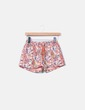 Shorts naranja floral acolchado S&DCOLORE