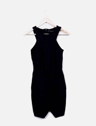 Vestido negro tirantes Zara