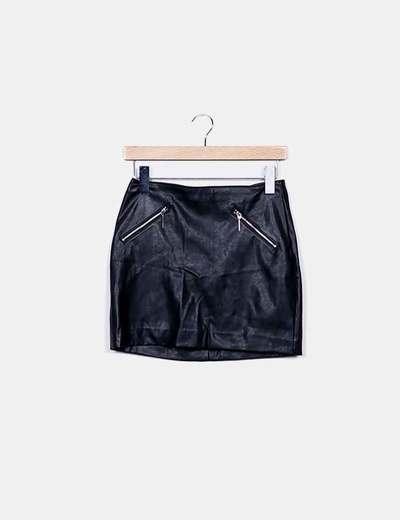 Jupe noire avec fermetures à glissière H&M
