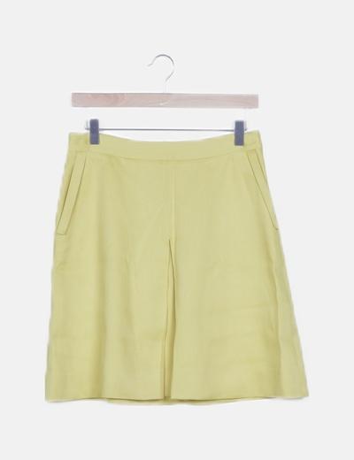 Falda mini amarilla fluida