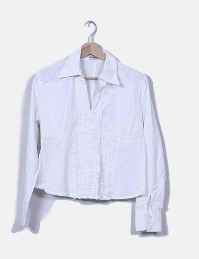 Camisa blanca manga larga Bossque