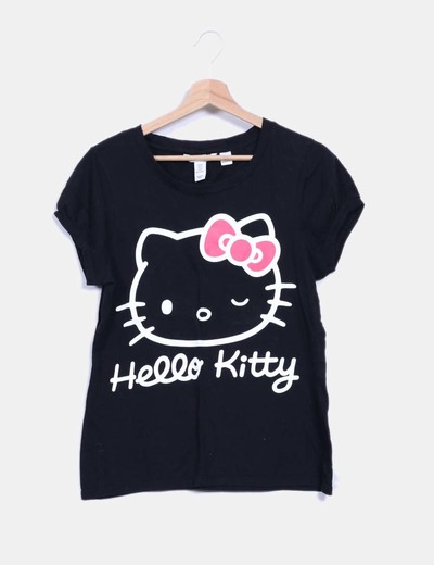 Hello amp;m H Camiseta Negra Kittydescuento 78Micolet f76gbyY