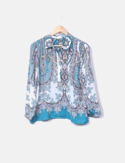 Blusa estampada azul