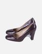 Zapato marrón texturizado con tacón ancho MLC shoes