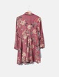 Vestido antelina rosa crepe floral NoName