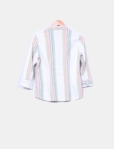Camisa de rayas multicolor