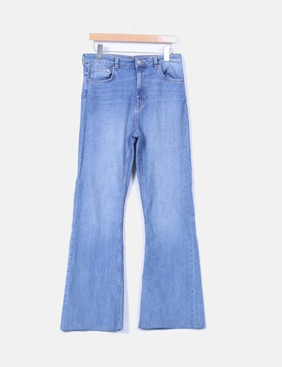Pantalon denim acampanado