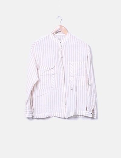 Camisa rayas beige