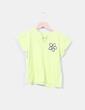 Camiseta verde lima print flor NoName
