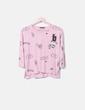 Camisa estampada rosa combinada Bershka