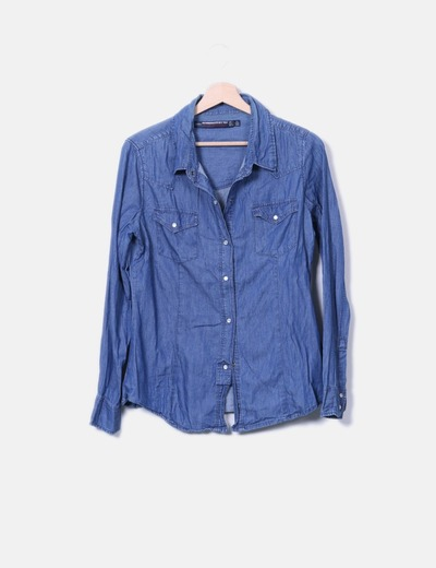 Camisa denim Zara