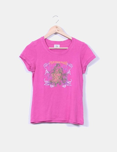 Top rosa fucsia estampado Pull&Bear