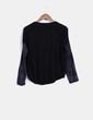 Tricot negro con crochet TMX