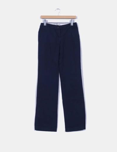 `Pantalón azul marino recto Mango