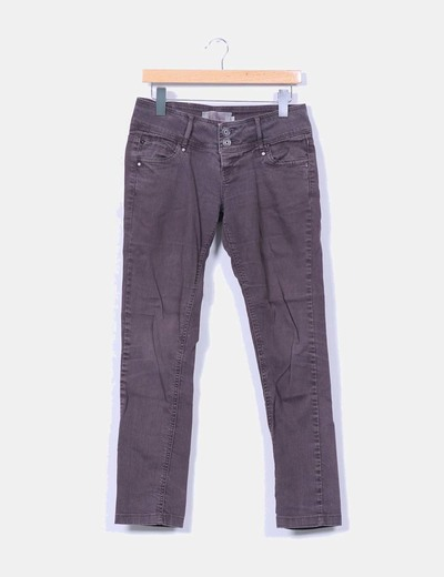 Pantalon denim marron