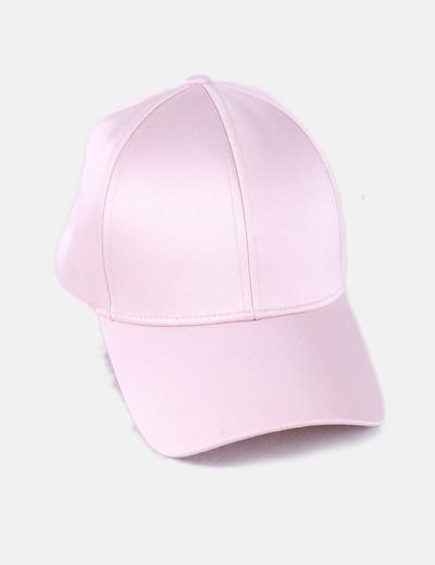 Gorra satén rosa
