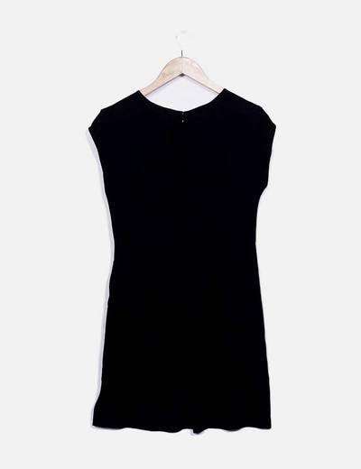 Vestido midi negro fluido