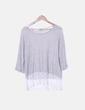 Blusa bicolor con detalle encaje Vero Moda