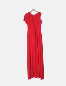 9ff670c5cab Vestido maxi fluido rojo Carlo Pascual