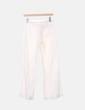 Pantalón lino blanco roto Benetton