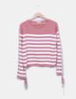 Camisola  tricot  rosa às riscas Tom Tailor