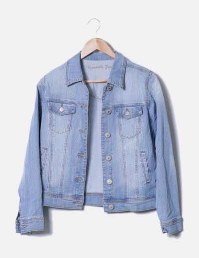 2015 nuevo y elegante Blue Jean chaqueta de lentejuelas