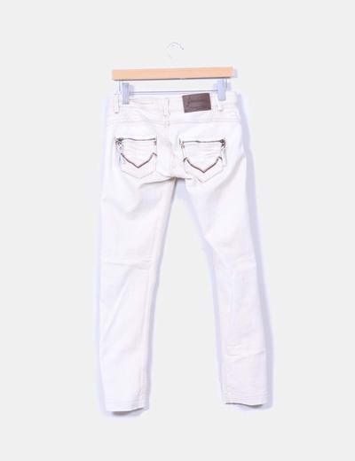 Pantalon beige efecto vaquero