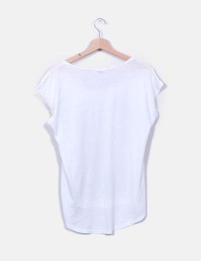 Camiseta blanca print girl
