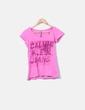 T-shirt rose imprimé Calvin Klein
