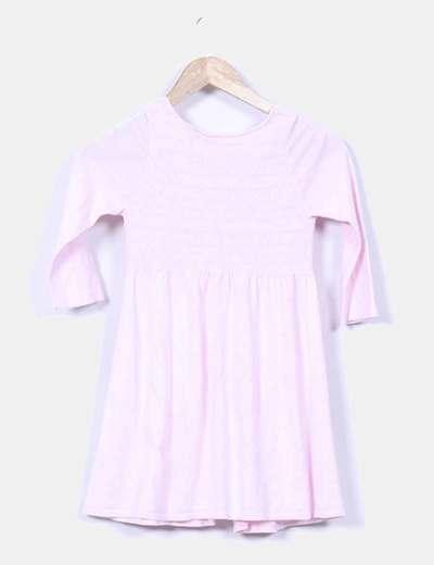 Chaqueta fina rosa combinada
