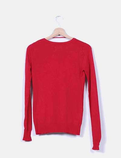 Chaqueta tricot rojo