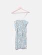 Camiseta larga azul floral abalorios Hoss Intropia