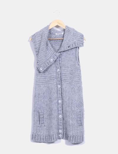 Chaleco de lana gris Indiwoman