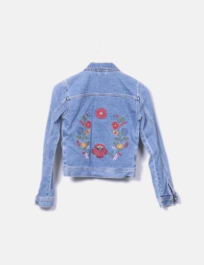 gran selección de 2019 marca popular lujo Chaqueta vaquera bordado floral