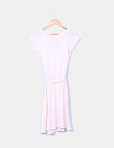 Vestido tricot rosa palo