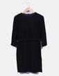 Vestido tricot negro doble top COS