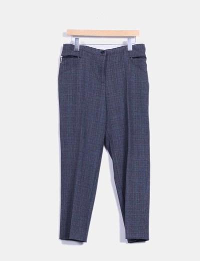 Pantalón de vestir gris de cuadros  Rossan