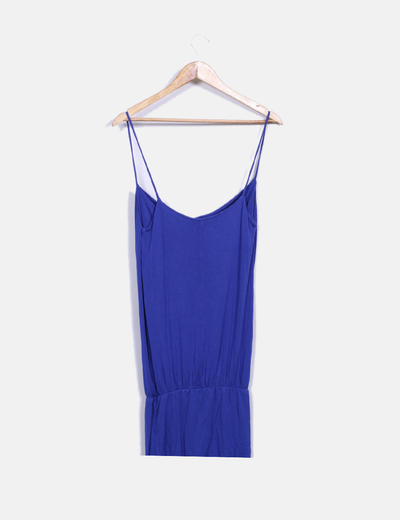 Vestido playero azul klein
