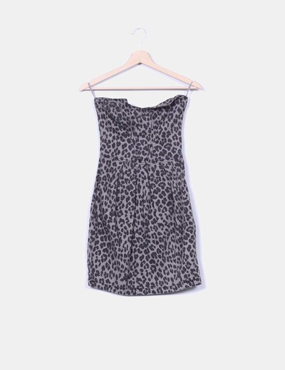 Vestido print animal sin mangas Suiteblanco