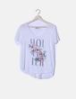 Camiseta blanca print floral Hollister