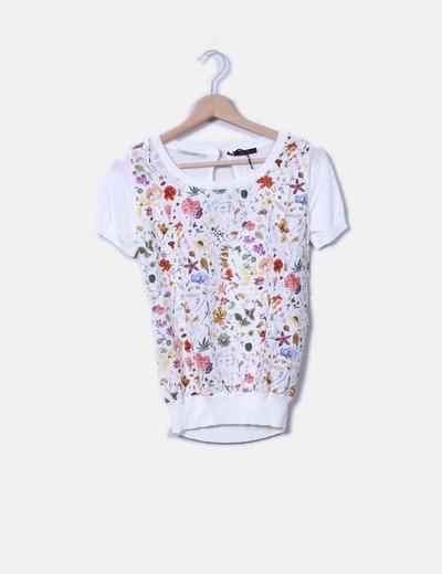 Camiseta de punto beige floral Liberty Fashion