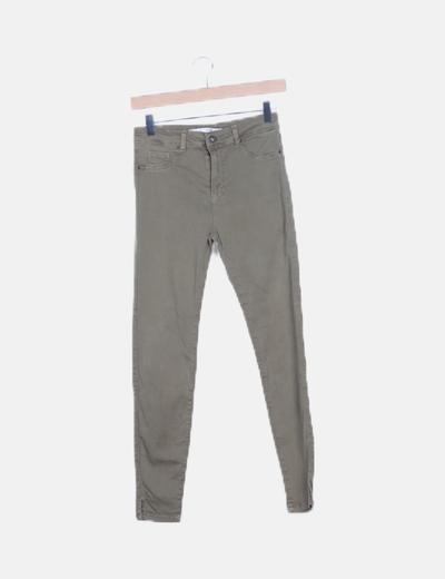 Pantalón elástico kaki fit